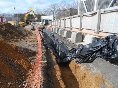 Drainage works at Cambridge University Campus